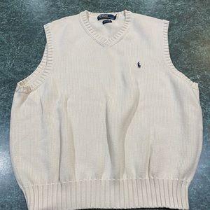 Polo Ralph Lauren Cream Sweater Vest Size XL